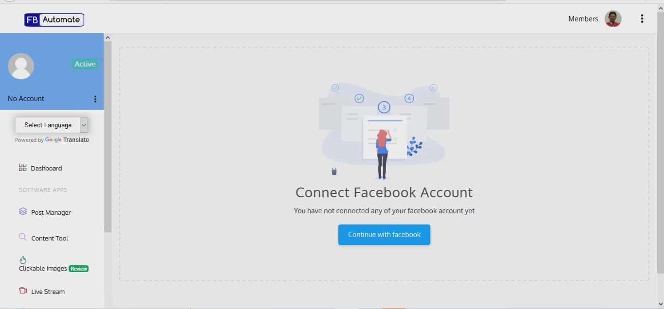 1. How to connect with FB page Moment