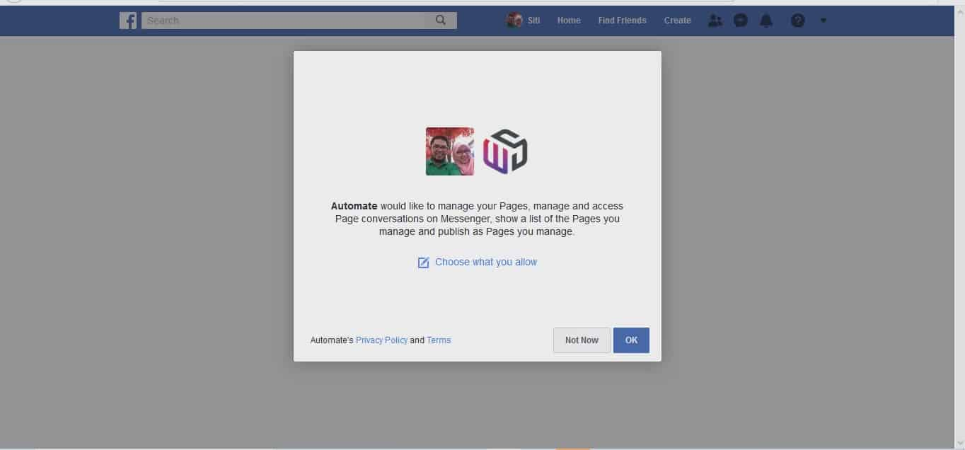 1. How to connect with FB page Moment5