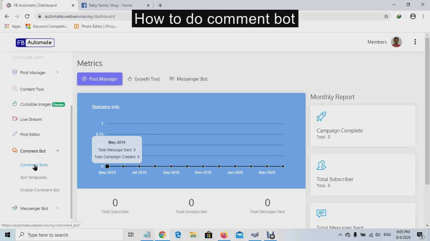 3. How to FB Auto Comment bot Moment2