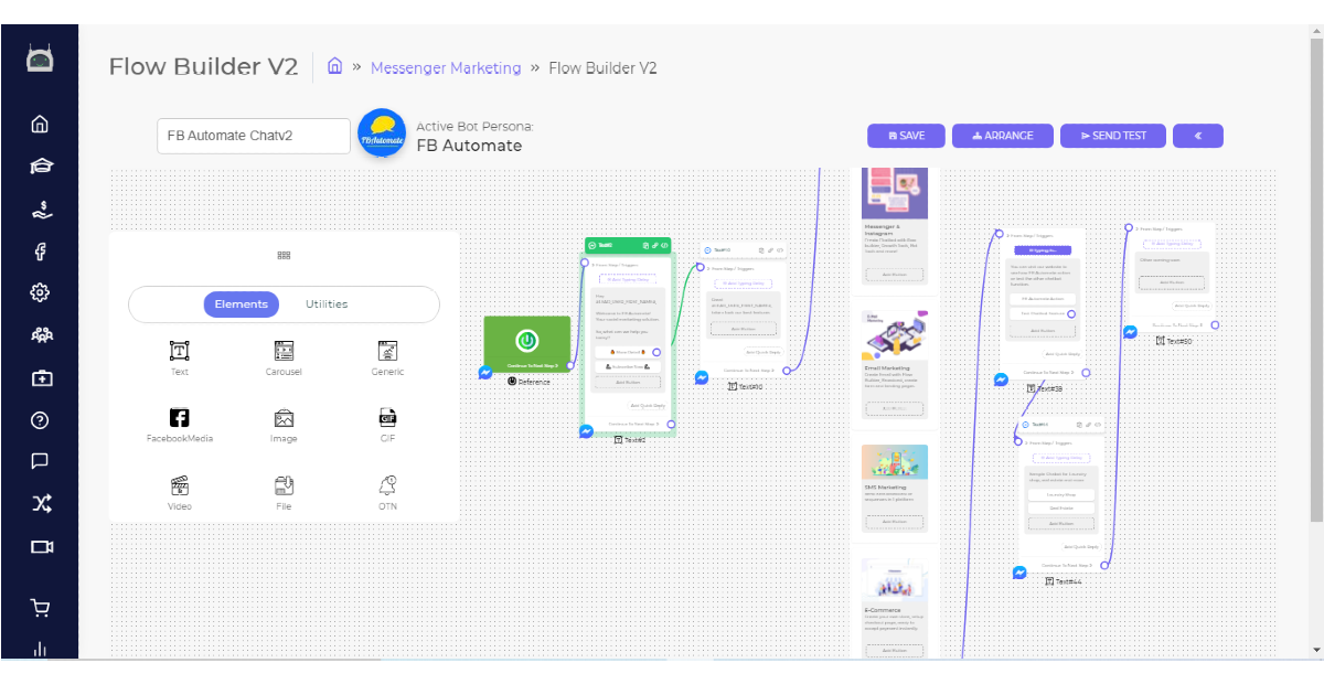 fbautomate chatbot flow builder